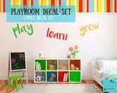 Playroom Wall Decal Set