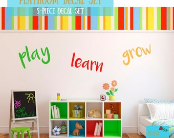 Charming Playroom Wall Decals   Etsy Part 32