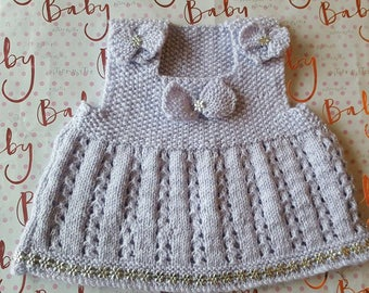 """Puprle and Sparkly Dress 0-3mths 15"""" chest"""