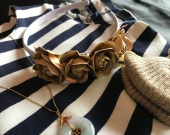 Golden Roses Headband