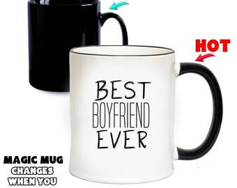 BEST BOYFRIEND EVER Magic Mug | Colour Changing Mugs | Special Gifts | Funny Gift