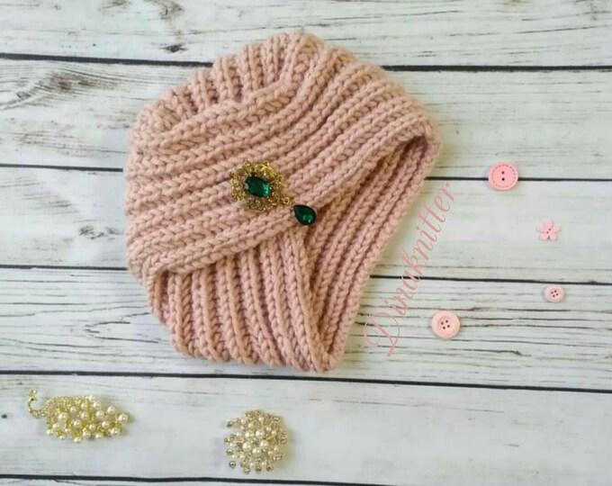 599b819e5ce FREE SHIPPING coupon on Turban. Knitted turban. Wool turban. Winter ...