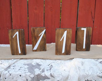Real Wood Wedding -  Wedding Table Number Set of 10