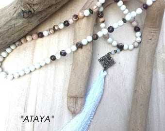 Long silk tassel & Jasper natural collection ATAYA ° °