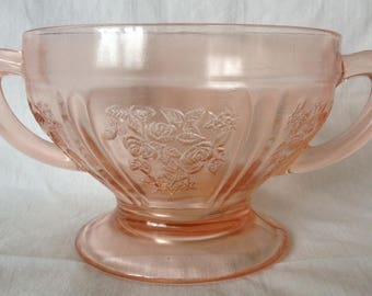 Federal Pink Sharon Cabbage Rose Sugar Bowl
