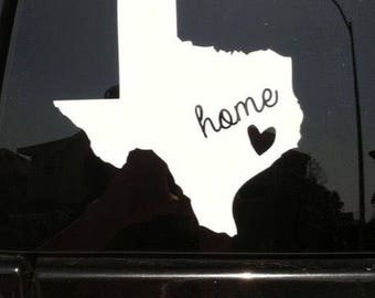 Home state car decal