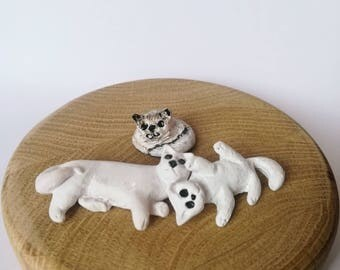 Cute cats, cats family, mother and childrens, animal, lovely cats, kittin, cats, cat, cat minifigurines, polimer clay cats