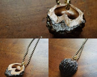 Black walnut pendant