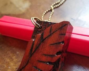 Pauduk wood leaf necklace