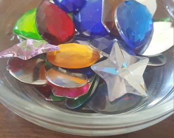 "DESTASH large plastic rhinestone ""jewels"""