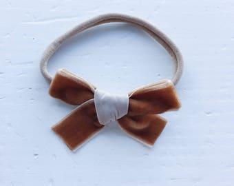 Rachel Bow (Headband - Caramel)