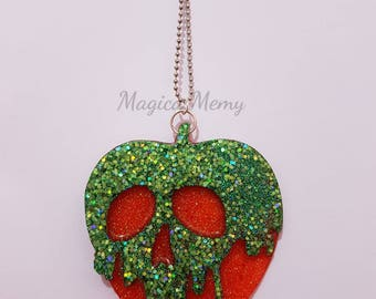 Handmade necklace with resin poisoned Apple
