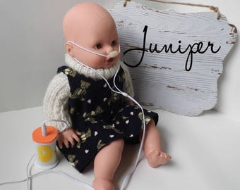 Juniper | Breathing Doll | Nose Cannula | Doll Oxygen Tank | Toy Like Me | Doll Like Me | Doll Oxygen Tubing | Special Friend Toy