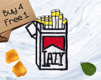 Cigarette Applique Iron On Embroidered Patches