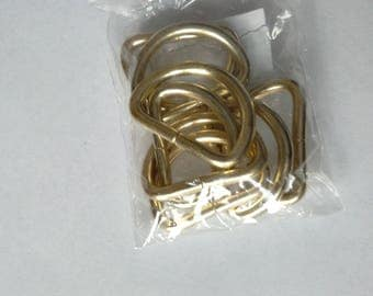D rings, purse notions, metal D rings, bag making hardware