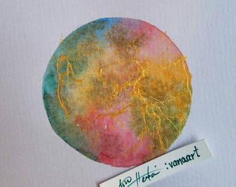 Color splash series - Watercolor art - Original Painting - mixed media Art