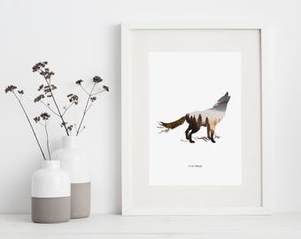 Stay Wild Wolf - PRINTED