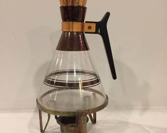 Small Vintage Carafe with Warmer