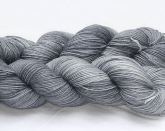 Hand Dyed 'Steel' 4 ply Australian Sock Yarn 100 grams