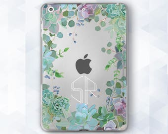 Floral Custom iPad Case iPad Personalized iPad Mini iPad Pro Clear Floral Case Monogram iPad Air iPad Mini Case iPad Pro 9.7 Floral iPad Air