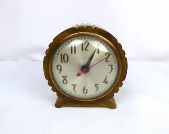 Vintage Art Deco Green u0026 White Marbled Bakelite Catalin Electric Clock  Sessions