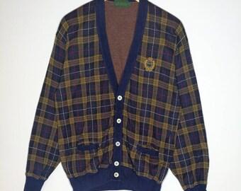 Rare!! Vintage Polo British Country Spirit Cardigan Size Large Veri Good Condition