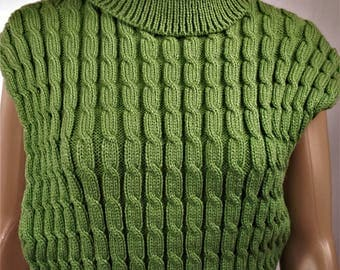 Wool Sweater, sweater is hand knitted Pullover Sweater poncho, winter, twisted, pullover sweater warm sweater, pullover 0189