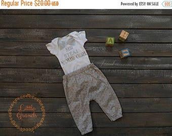 25% OFF 6-9 Month Boys Grey Bodysuit and Pants Set