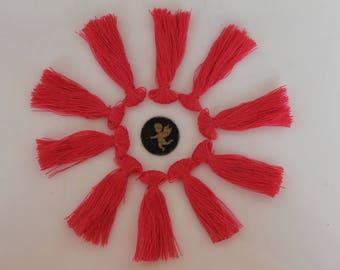 10 pink tassel 40 mm - tassels - jewelry - necklace