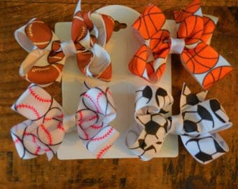 4 Bows- Sporty Baby Bow Set