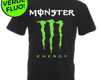 T-shirt Short Sleeve T-shirt Monster Energy Neon Green Woman Man