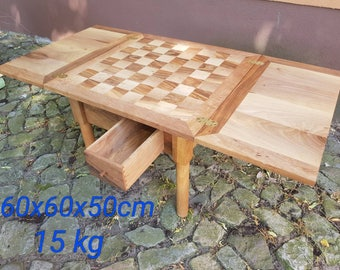 Wooden chess table chess game table unique masterpiece stand table