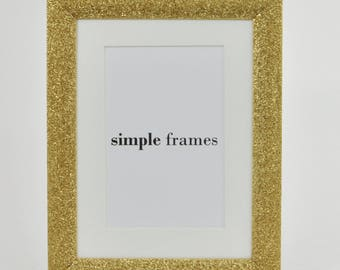 Gold Sparkle A5 Frame with Mount - Sparkle Collection