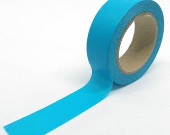 Washi Tape plain blue 10Mx15mm