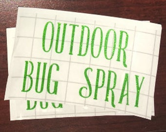 Outdoor Bug Spray LABEL ONLY