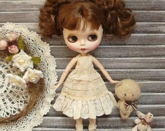 Blythe dress in boho style, clothes Blythe