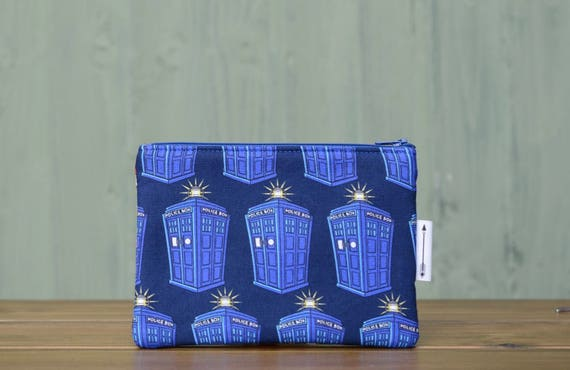 Dr Who Tardis Zipped pouch