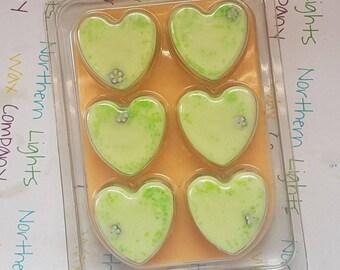 Lime, Basil and Mandarin Wax Melt Heart Clamshell