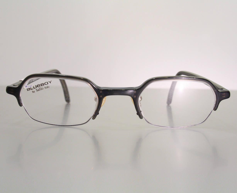 Vintage 90\'s BLUEBAY by SAFILO Half Frame Semi Rimless Women\'s ...