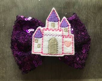 Sequined Castle Bow!