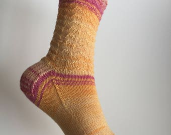 Ripple Socks Hand Knit for Women