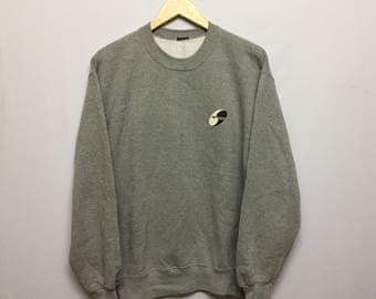 Vintage Town And Country Surf Sweatshirt Size fits to M Rare Yin Yang Dragon Graphic image