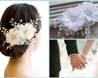 Pretty Floral Hair Ornament - Bride Bridesmaid Flower Girl