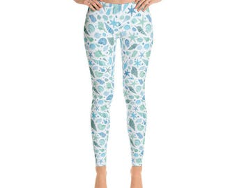 Beach Leggings - Summer Leggings - Fancee Pants Co