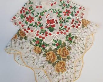 Set Of Two Patterned Handkerchiefs