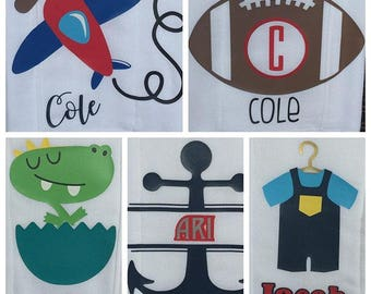 Personalized Baby Burp Rags