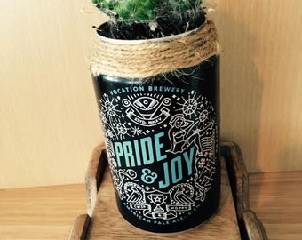 Pride & Joy Cactus Filled Recycled Beer Can