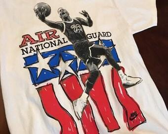 Vintage nike michael jordan t shirt!!! 90s grey tag size large!!!