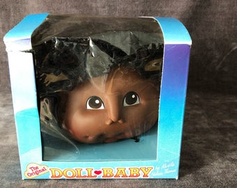 Martha Nelson Thomas craft doll head cabbage patch