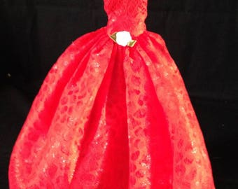 Barbie Red Ball Gown/Barbie gown/Barbie clothes/Barbie dresses/Barbie fashion/Barbie doll gift/Barbie evening gown/princess/little girls/